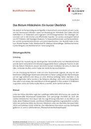 Das Bistum Hildesheim: Ein kurzer Ãœberblick