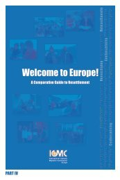 Europe: A guide to resettlement PART IV - ICMC