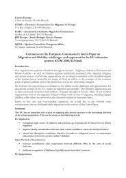 Christian group response to green paper on migration and ... - ICMC