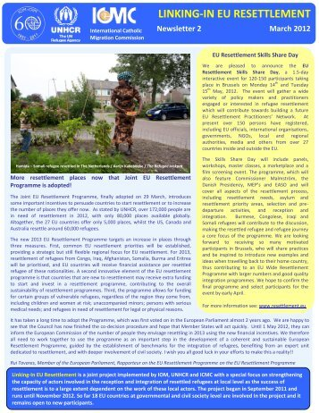 LINKING IN Newsletter 2- March 2012 - ICMC