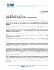 Haiti: ICMC applauds solidarity, Highlights role of migrants in post ...