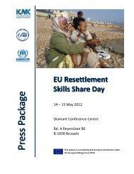 Press Package EU Resettlement Skills Share Day - ICMC