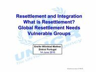 Resettlement and Integration What is Resettlement? Global ... - ICMC