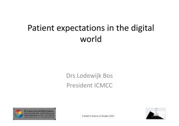 Patient expectations in the digital world - ICMCC