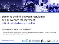 Exploring the link between Populomics and Knowledge ... - ICMCC