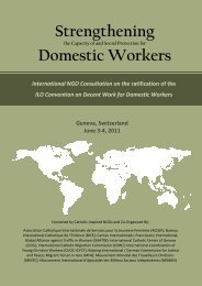 Strengthening the Capacity of and Social Protection for ... - ICMC