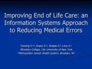 Improving End of Life Care: an Information Systems ... - ICMCC