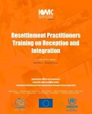 Resettlement Practitioners Training on Reception and ... - ICMC