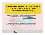 Improving outcomes with interoperable EHRs and secure ... - ICMCC
