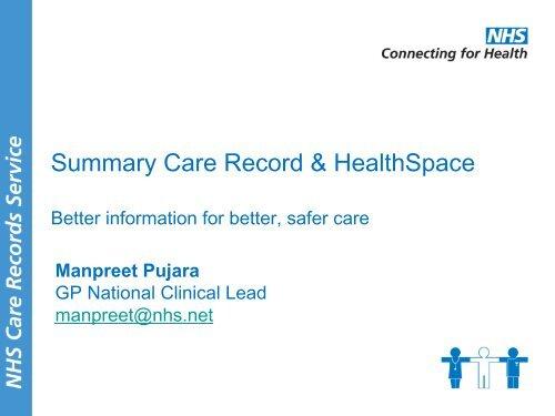 The Summary Care Record - ICMCC