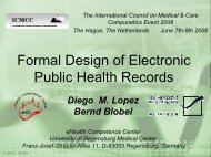 Formal Design of Electronic Public Health Records - ICMCC