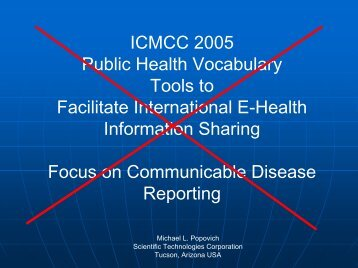 ICMCC 2005 Public Health Vocabulary Tools to Facilitate ...