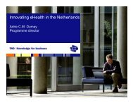 Innovating eHealth in the Netherlands - ICMCC