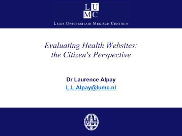 evaluating health websites The last information resources column on evaluating health resources, whom do you trust evaluating internet health resources, was published in january 1999 since.