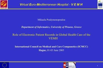 Virtual Euro-Mediterranean Hospital - VEMH - ICMCC