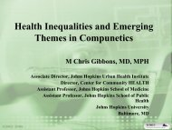 Health Inequalities and Emerging Themes in Compunetics - ICMCC