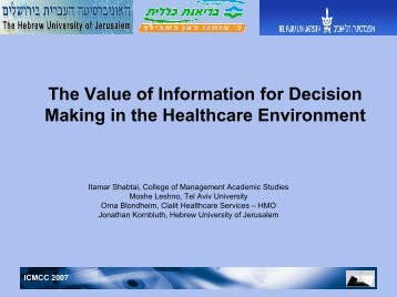 Assessing the realistic value - ICMCC