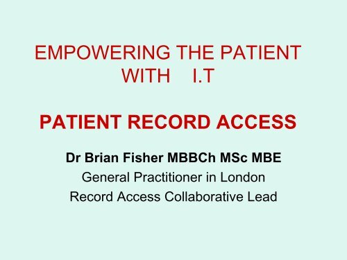 why record access? - ICMCC