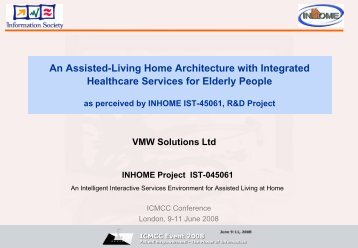 An Assisted-Living Home Architecture with Integrated - ICMCC