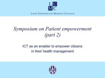 Symposium on Patient empowerment (part 1) - ICMCC