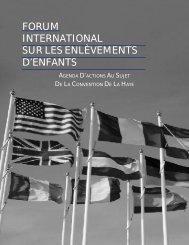 FORUM INTERNATIONAL SUR LES ENLÈVEMENTS D'ENFANTS