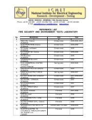 reference list fire security and environment tests laboratory - icmet