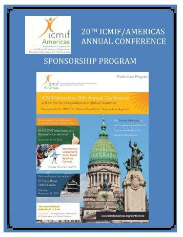 20th icmif/americas annual conference sponsorship program