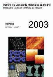 Materials Science Institute of Madrid - Consejo Superior de ...