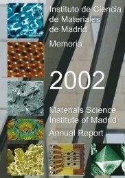 Instituto de Ciencia de Materiales de Madrid - Materials Science ...