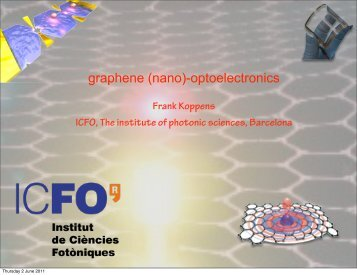 graphene (nano)-optoelectronics - Materials Science Institute of ...
