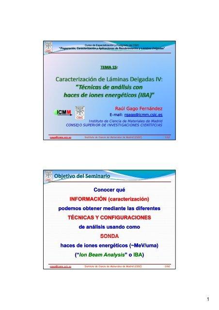TEMA 15 - Materials Science Institute of Madrid