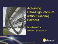 AchievingUltra-High Vacuum without (in-situ) Bakeout