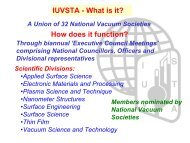 IUVSTA - Materials Science Institute of Madrid