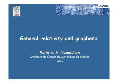 General relativity and graphene