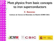 Mott physics - Materials Science Institute of Madrid