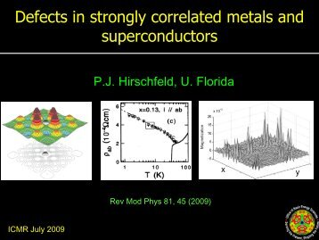 Defects in strongly correlated metals and superconductors