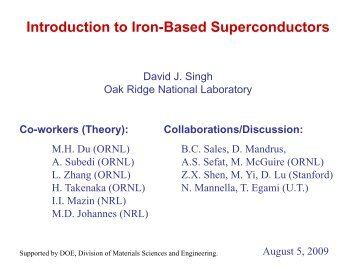 Introduction to Iron-Based Superconductors