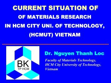 Current Situation of Computational Chemistry in HCM City University ...