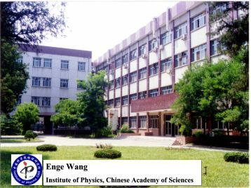 Materials Research at the Chinese Academy of Sciences