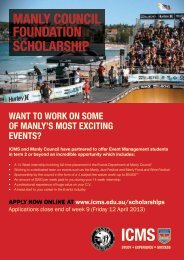 MANLy COUNCIL FOUNDATION SCHOLARSHIP