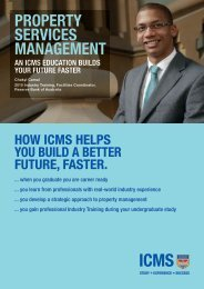 PROPERTY SERVICES MANAGEMENT - International College of ...