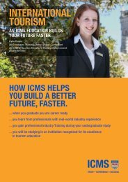 international tourism - International College of Management Sydney