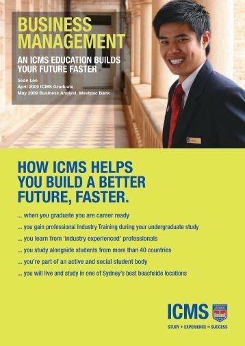 business management - International College of Management Sydney