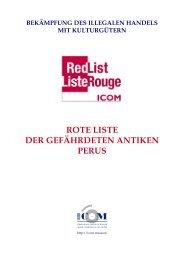 Red List Peru - Einführung und Dokumentation - ICOM Deutschland