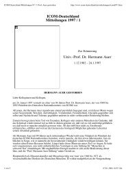 Mitteilungen 1997/1 - ICOM Deutschland