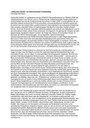 Kulturelle Vielfalt im internationalen Kulturdialog, Christoph ...