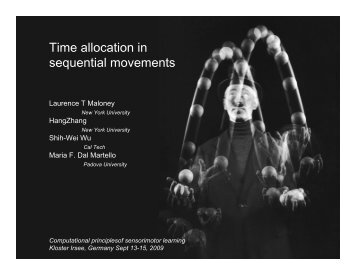 Time allocation in sequential movements - Institute of Cognitive ...