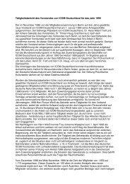 Tätigkeitsbericht 1999 (.pdf) - ICOM Deutschland