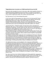 Tätigkeitsbericht 2001 (.pdf) - ICOM Deutschland