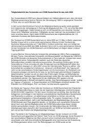 Tätigkeitsbericht 2000 (.pdf) - ICOM Deutschland